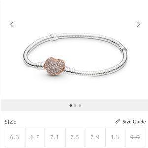 Pandora Rose Heart Bracelet